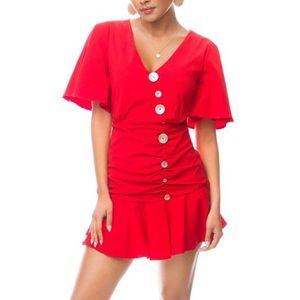 Dresses & Skirts - Red mini dress